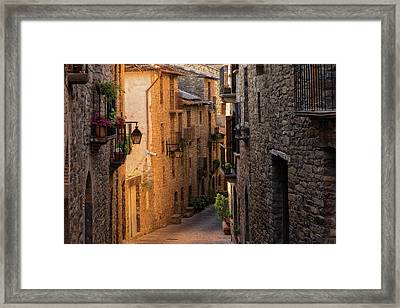 By The Town Of Ainsa In The Province Of Huesca Framed Print