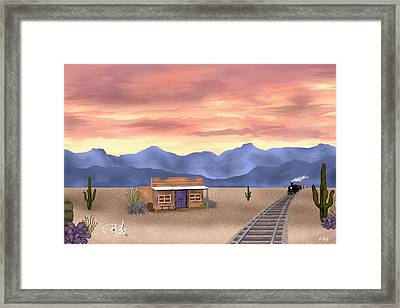 By The Tracks Framed Print by Gordon Beck