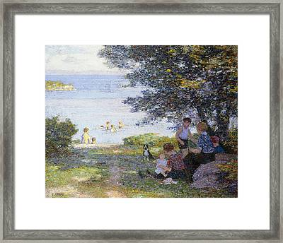 By The Water Framed Print by Edward Henry Potthast