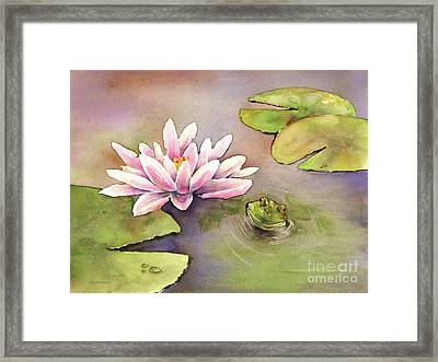 By The Waterlily Framed Print