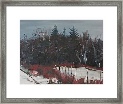 By The Woods Framed Print
