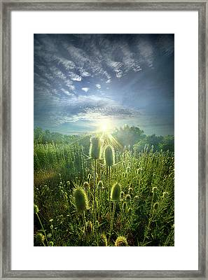 By Virtue Of Its Own Existence Framed Print