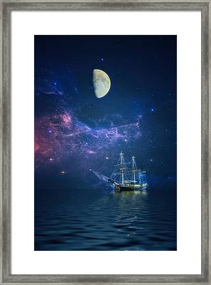 By Way Of The Moon And Stars Framed Print