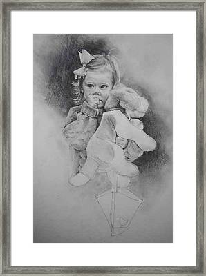Framed Print featuring the drawing Bye-bye Bag by Jani Freimann