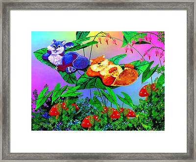 Bye-bye Beaver Buddy Framed Print by Hanne Lore Koehler