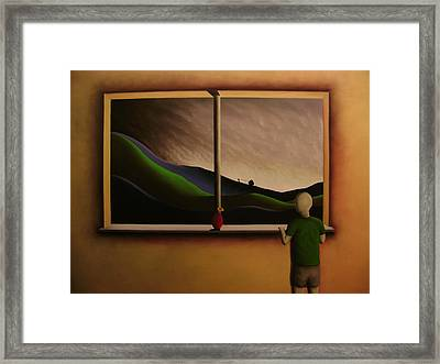 Bye Dad Ill See You In The Morning Framed Print