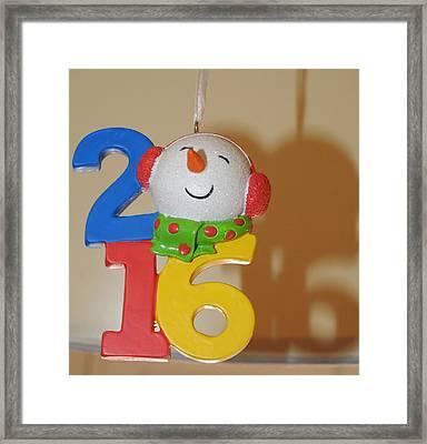 Bye To 2016 Framed Print