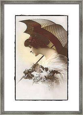 Bygone Beauty Framed Print