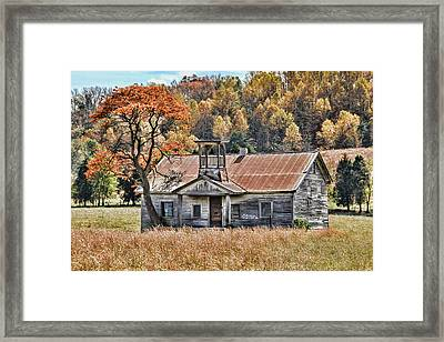 Bygone Days - Old Schoolhouse Framed Print