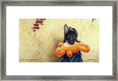 B.y.o.b. - Bring Your Own Bear... Framed Print by Will Bullas