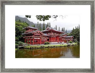 Byodo-in Temple Oahu Framed Print