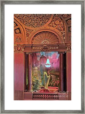 Byrd Theater Harp Opera Box Framed Print by Jemmy Archer