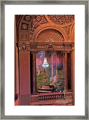 Byrd Theater Piano Opera Box Framed Print by Jemmy Archer