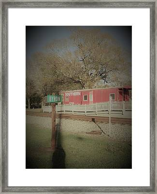 Byron Town By The Tracks Framed Print