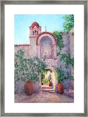Byzantine Archway Framed Print by Jill Musser