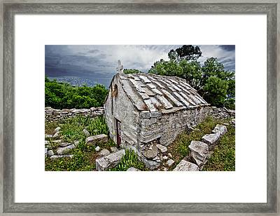 Byzantine Church Framed Print by Jean-luc Bohin