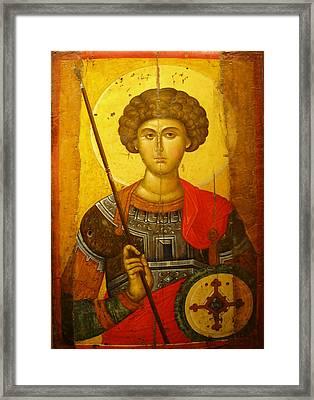 Byzantine Knight Framed Print