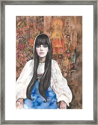 Byzantine Madonna Framed Print by Kim Whitton