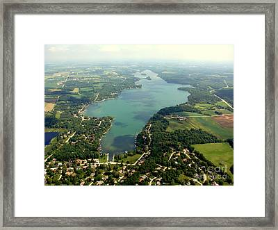 C-014 Cedar Lake Big Wisconsin Framed Print
