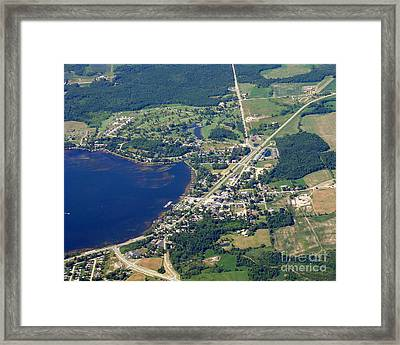 Framed Print featuring the photograph C-015 Cecil Wisconsin by Bill Lang