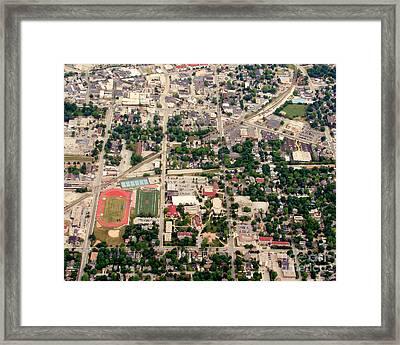 Framed Print featuring the photograph C-017 Carroll University Waukesha Wisconsin by Bill Lang
