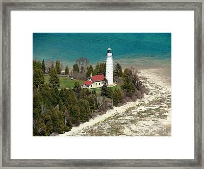 C-018 Cana Island Lighthouse Framed Print
