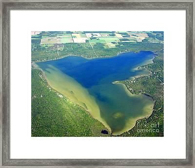 C-030 Clark Lake Door County Framed Print