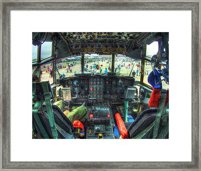 C 130 Cocpit 026 Framed Print by Jeff Stallard