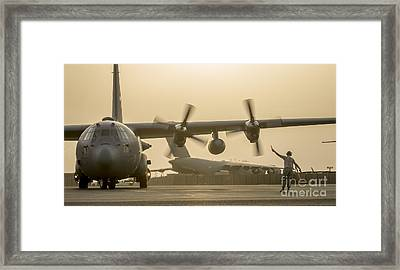 C-130h Hercules Framed Print by Celestial Images
