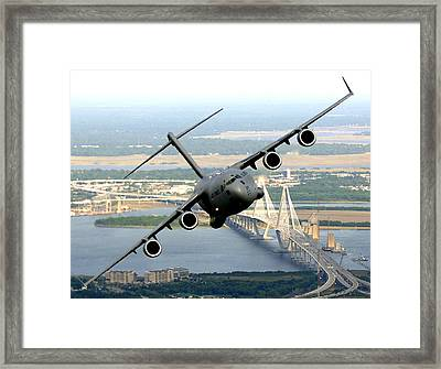 C-17 Charleston Framed Print by Aviation Heritage