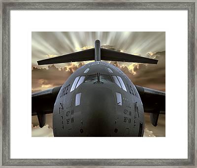 C-17 Globemaster Military Transport Aircraft Framed Print by Daniel Hagerman