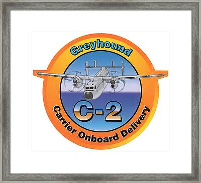 C-2 Greyhound Framed Print