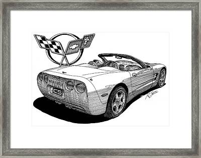 C-5 Corvette Convertible Framed Print