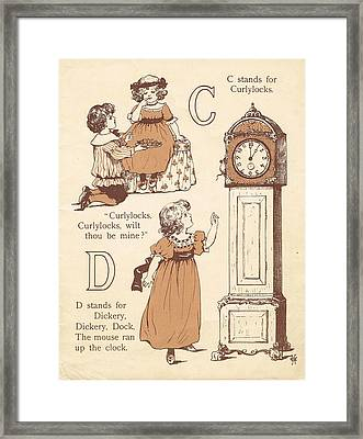 C And D Abc Book Framed Print by Reynold Jay