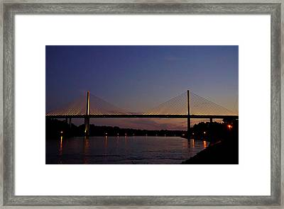 C And D Canal Bridge Framed Print by Ed Sweeney
