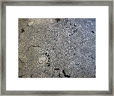 C And D Table Framed Print by Mandy Shupp