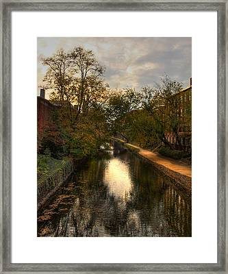 C And O Canal Framed Print