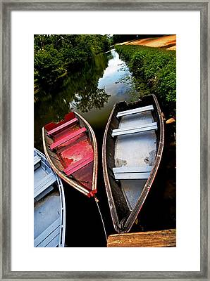 C And O Canal With Rowboats Framed Print