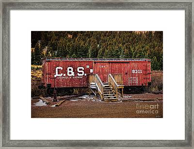 C And S Railroad Framed Print by Jon Burch Photography