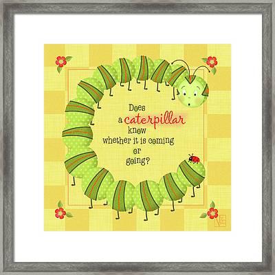 C Is For Caterpillar Framed Print