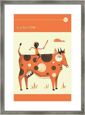 C Is For Cow Framed Print