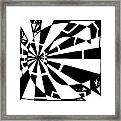 C-maze Framed Print by Yonatan Frimer Maze Artist