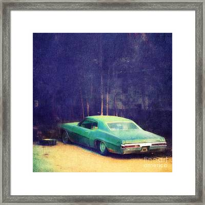 The Old Car Framed Print by Priska Wettstein