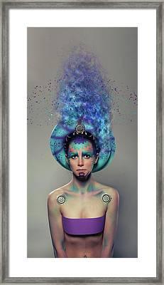 C R A Z Y Framed Print by Nichola Denny