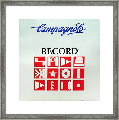 C Record Shop Sign Framed Print by George Evans