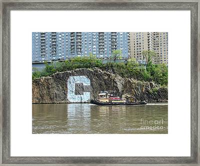 C Rock With Tug Framed Print