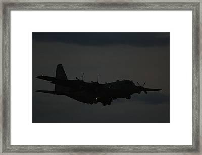 C130 Hercules Night Flight Framed Print