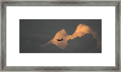 C130 Hercules Sunset 2 Framed Print