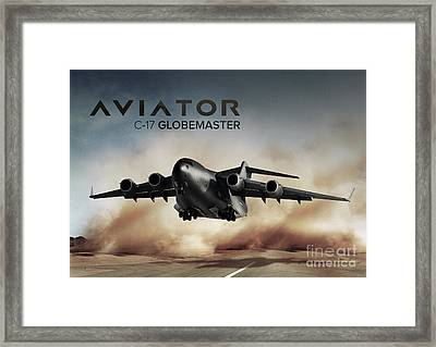 C17 Globemaster Cargo Plane Framed Print by Fernando Miranda