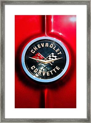 C2 Corvette Logo Framed Print by Scott Wyatt